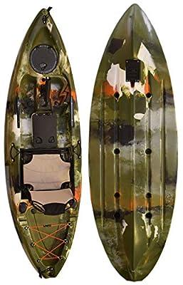 8944491790144 Vanhunks Manatee 9ft Single Fishing Kayak - Jungle Green from Vanhunks Boarding