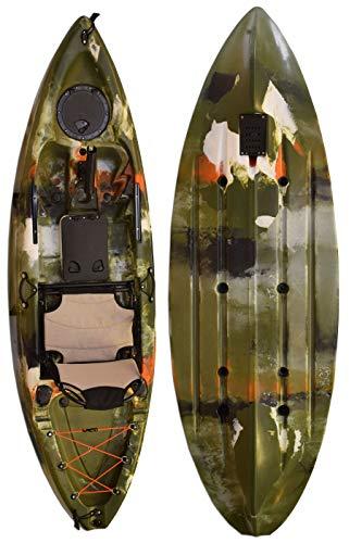 Vanhunks Manatee 9ft Single Fishing Kayak - Jungle Green