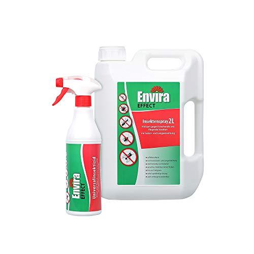 Envira Effect Universal-Insektizid - Insektenspray Mit Langzeitwirkung - Anti-Insekten-Mittel, Wasserbasis - 500 ml + 2L