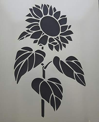 Laser Made Wales Sonnenblume Wandkunst Aufkleber Schablone 8