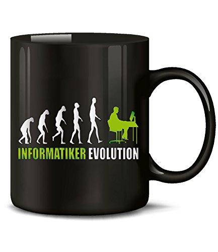 Golebros Informatiker Evolution Beruf Kollege Arbeits 4602 Tasse Becher Kaffee Computer Informatik Internet für Eltern pc Nerd netzwerke Buch Geschenke Nerds Programmer Programmierer fachinformatiker