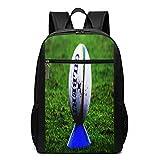 Sac à Dos Décontracté Scolaire Cartable Sacs école pour Garçons Filles Homme Femme Sac De Camping Voyage Laptop Backpack Ballon de Rugby sur Tee Shirt