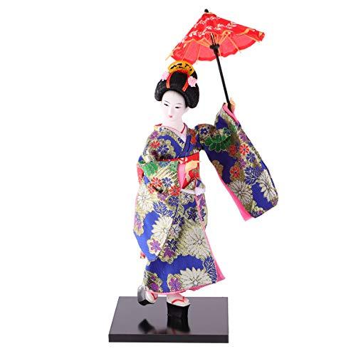 Wakauto Geisha Japonesa Muñeca Oriental Kimono Asiático Muñeca Coleccionable Estatuilla Decoración Regalo (Imagen 2)