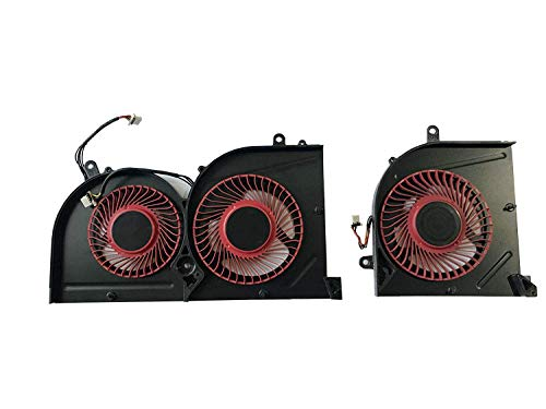 Z-one CPU+Gpu Fan Replacement for MSI GS63VR 6RF 7RF GS73VR 6RF 7RF GS73VR Stealth Pro Red 4 Wires 4 pins Cooling Fan Two Fans BS5005HS-U2F1 BS5005HS-U2L1 -  BS5005HS-U21 BS5005HS-U2L1