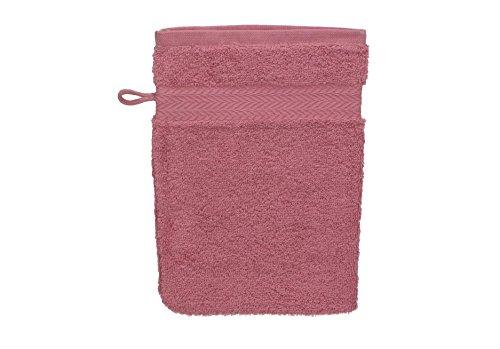 Betz Gant de Toilette pour Visage Corps Gant de Toilette Taille 16x21 cm 100% Coton Premium Couleur Vieux Rose