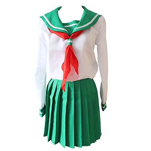 Bingchuan Anime Inuyasha Cosplay Kagome Higurashi Disfraz Uniforme Vestido Trajes Halloween Disfraz