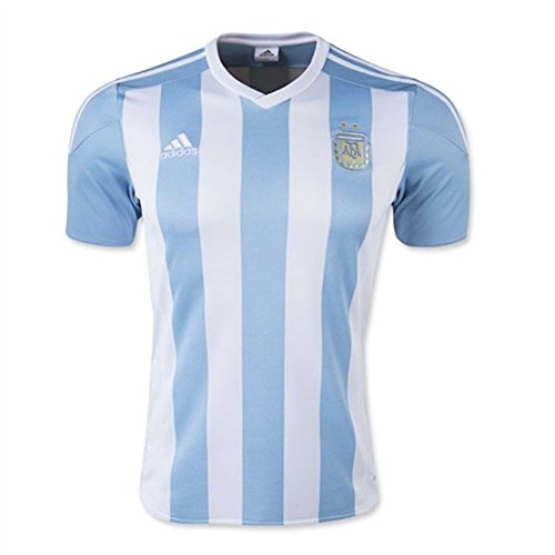 adidas Argentina Home Soccer Jersey, White/Sky (X-Large)