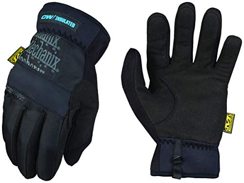 Mechanix Wear: Winter Work Gloves for Men - FastFit Insulated; Touchscreen Capable (Large, Black)