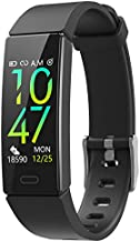 ZURURU Fitness Tracker with Blood Pressure Heart Rate Sleep Health Monitor, Waterproof Activity Tracker with Step Calorie Counter Pedometer for Fit bit Men & Women (Black)