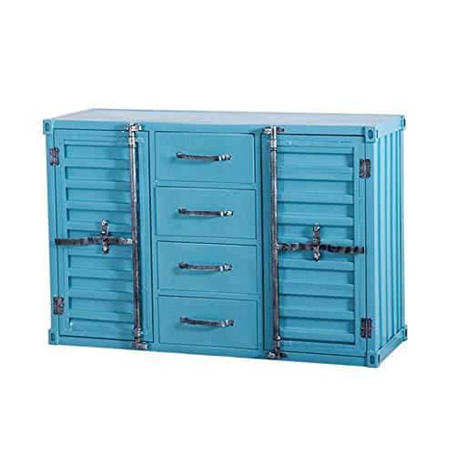 LIUXING-Home Buffet Multifonctionnel Chambre Cuisine Salle de Bain Cabinet Side Armoire Cabinet avec Porte tiroirs Armoire de Rangement Commode De Cuisine (Color : Blue, Size : 100x40x80cm)
