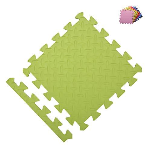 Vierkant Dikke Kids Vloerpuzzel Floor 30X30cm Foam Gym Vloertegels Kids Waterdicht 9Pcs,Green,30 * 30 * 1cm