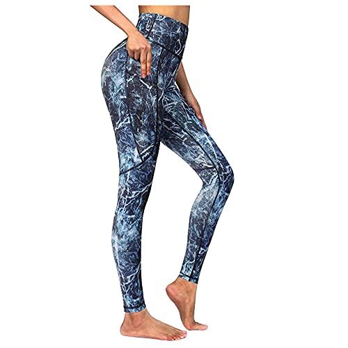 QTJY Pantalones de Yoga de Secado rápido con Estampado de Camuflaje para Mujer, Mallas sin Costuras de Cintura Alta para Deportes con Push-up B XL