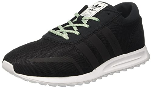 adidas Los Angeles, Scarpe da Ginnastica Basse Uomo, Nero (Core Black/Core Black/Ftwr White), 42 2/3 EU