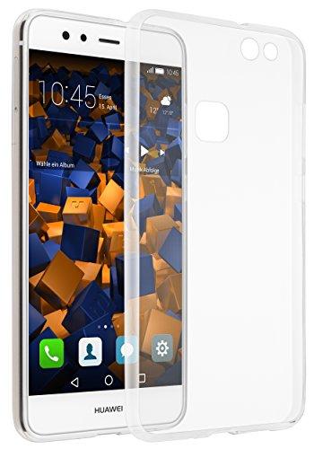 mumbi Funda Compatible con Huawei P10 Lite Caja del teléfono móvil Slim Mince Avec Motif Mandala, Transparente