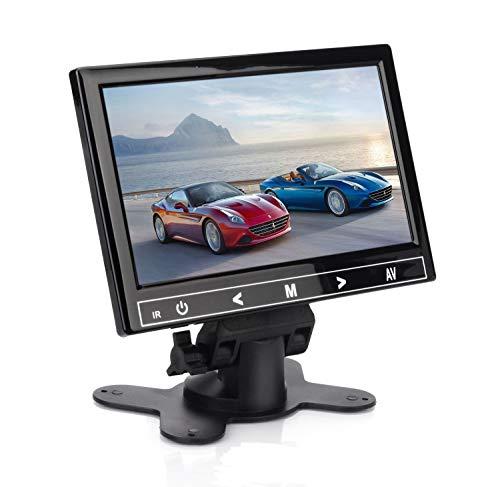 DIGOT 7 Zoll Tragbarer Monitor 1024 * 600 IPS LED Bildschirm Sicherheitsmonitor mit AV/VGA/HDMI Ports Lautsprecher Eingebaut für Raspberry Pi House Überwachungskamera PC DVD DVR CCTV VCD