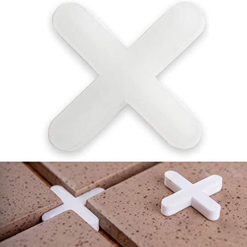 Fliesenkreuze, 3 mm stark, 1000x, sorgen für gleichmäßigen Abstand, können verfugt werden, Fugen Kreuz, Fliesenabstandshalter, Fliesen Abstandshalter, Fliesen Kreuz, Kunststoffkreuze, Distanz Halter