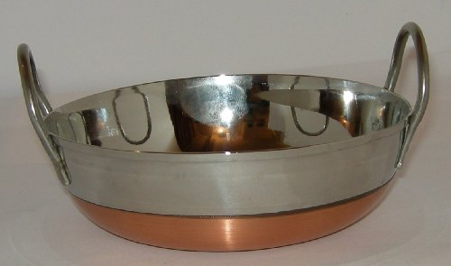Frying Pan s/s Copper base Double Handle 10'/25.5cm Flat base Guaranteed Quality
