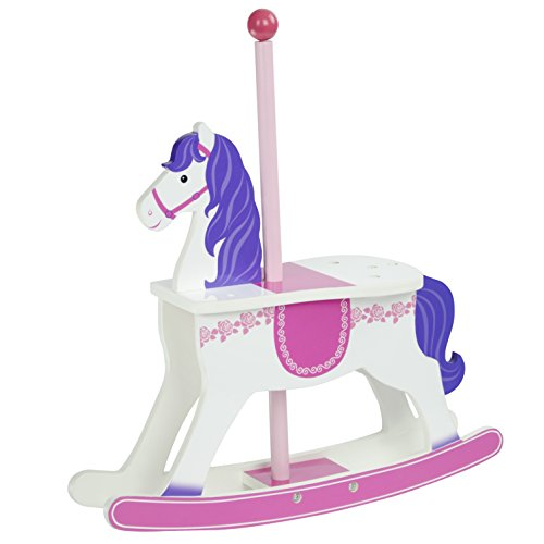 Olivia's Little World TD-0097A prinses poppen-carrousel schommelpaar, 45,7 cm, wit