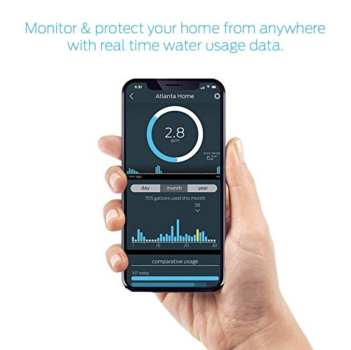 StreamLabs Smart Home Water Monitor Leak Detector with Wi-Fi – No Pipe Cutting, 5-Minute Install,...