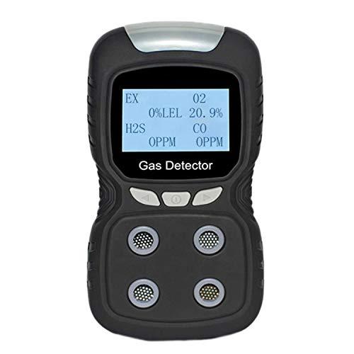 YRW Tragbarer Gas Detektor Monitor Detektor Analysator Wiederaufladbare Anzeige Ton und Licht Luft Qualit?T Detektor mit EU Stecker