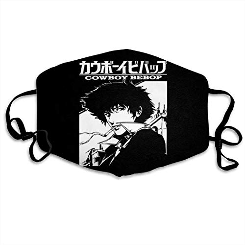 Mundschutz Anime Boy Cowboy Bebop Hip Hop Face Cover, Roleplaying Japanese Anime Cartoon Style Face Cover, Washable and Reusable Mouth Cover