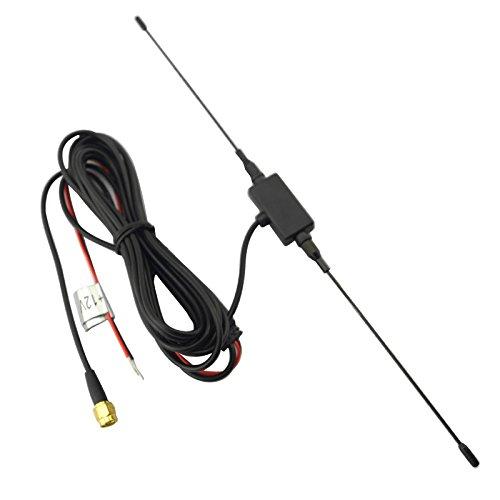 Feeldo Voiture SMA antenne Active avec amplificateur intégré pour TV numérique
