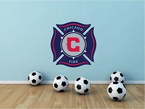 lunaprint Chicago Fire USA Soccer Football Sport Home Decor Art Wall Vinyl Sticker 55 x 55 cm