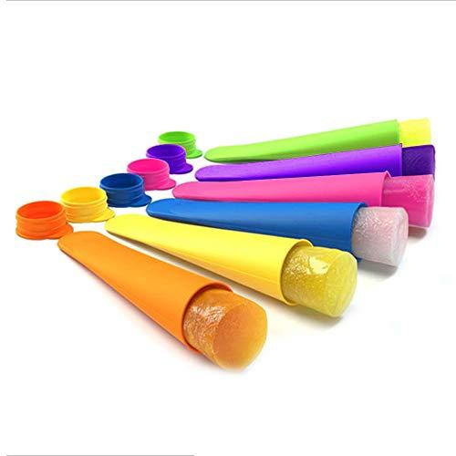 Eisformen EIS ohne Stiel Ice Pop Maker Formen Set Kleine Stieleisformer aus Silikon BPA Frei Wiederverwendbar, 6 Farben je 30ml