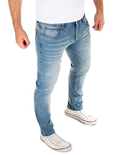 WOTEGA Herren Jeans Stretch Alistar - Hellblaue Slim Fit Jeanshosen - Blaue Hose für Männer Straight - Denim Hosen, Blau (C. Blue 184020), W33/L30