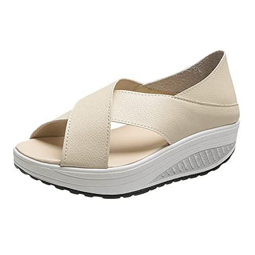 Eaylis Mode Frauen Sommer sandalen Peep Toe Thick Bottom Sandalen Bequeme Sportschuhe