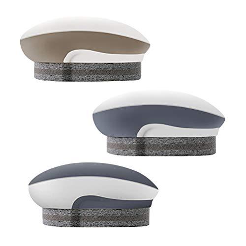 BESTONZON 3pcs Eponge brosse salle de bains brosse récurer nettoyant pour carrelage de sol fenêtre brosses de nettoyage avec poignée