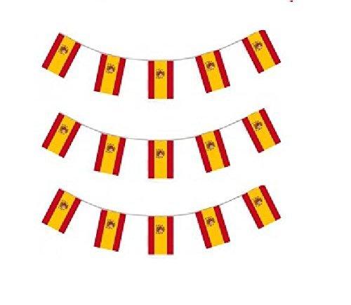 Unbekannt 10M Spanien Spanisch Fahne Flagge Girlande Wimpelgirlande Wimpelkette Gartenparty Dekoration