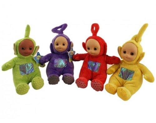 4 x Teletubbies Laa-Laa Po Dipsy Tinky Winky Plüsch Plüschfiguren Puppen 20 cm sitzend