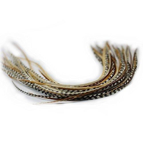 Sexy Sparkles Belles plumes naturelles pour Extensions de cheveux pour femmes avec des mélanges de qualité professionnelle - Longueur de 20,3 à 30,4 cm - 7 plumes naturelles.