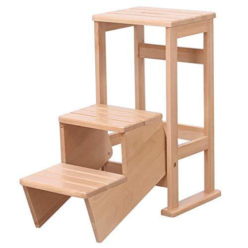 Sywlwxkq Escalera portátil Plegable Taburete con escalón Escalera Plegable de pie pequeño...