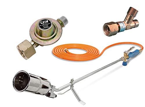 CFH Set Abflammgerät inkl. 5m Schlauch + Druckregler + Schlauchbruchsicherung