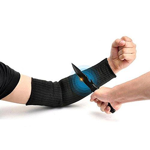 Tbest Schnittfeste Ärmel Handschuhe Kevlar Sleeve Armschutz Schnittschutz Sleeve Anti-Cut, 1 Paar Arm Guard Bracer Cut Resistant Hitzebeständige Sleeves Anti-Sicherheitsarmband für Garten Küche Arbeit