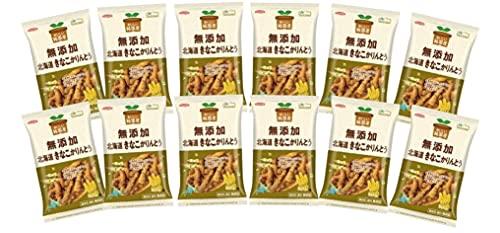 """無添加 きなこかりんとう 103g×12袋 ★ 宅配便 ★ 生地に北海道産ひき割り大豆、蜜に北海道産きなこを混ぜた""""大豆を感じる""""かりんとうです。"""