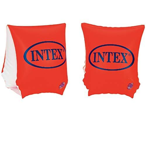 Intex- De Luxe Braccioli Deluxe, Colore Arancio, 23 x 15 cm, 58642