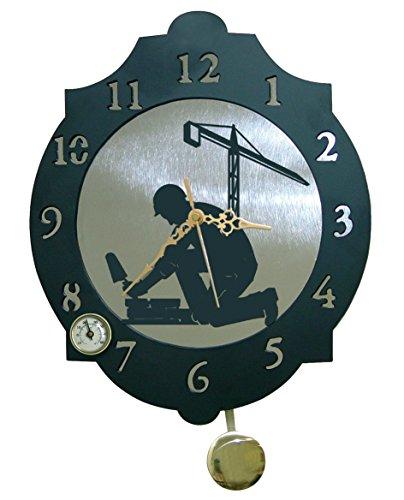 Arthifor - Reloj de Pared Albañil con péndulo y termómetro