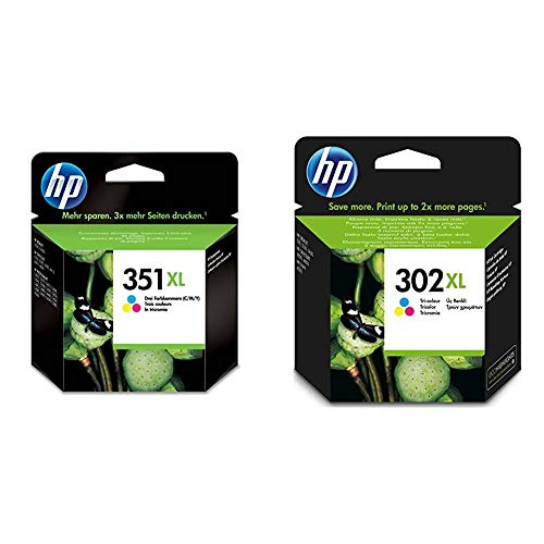 HP Tricolor, Cartucho de Tinta de Alta Capacidad Original, Compatible con impresoras de inyección de Tinta Deskjet, Photosmart + Tricolor, Cartucho de Tinta de Alta Capacidad Original