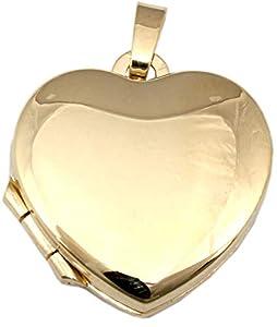 Medaillon Herz in echt Gold 333 Gelbgold Qualität 8 karat Anhänger