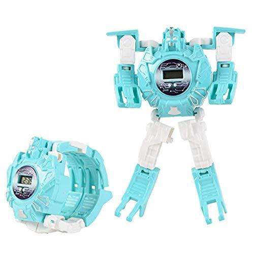 DHFD Elektronische Armbanduhr Roboter, Transformation Kreative Cartoon Figuren, Toy Watch Transformers Spielzeug, Digitaluhr Elektronische Roboter, Kinder Geschenk
