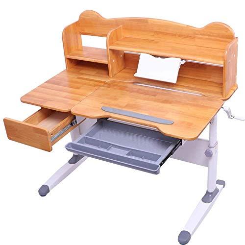 Escritorio para niños y silla de silla para niños Silla de escritorio Silla de mesa Set Mesa y silla inclinable para niños Arte Mesa de madera Set para niños Niñas Niñas Amigos Familia (Color: Madera,