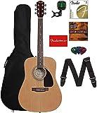 Fender 0950816021-COMBO-DLX Acoustic Guitar Bundle with Gig Bag, Tuner, Strings, Strap, Picks, Austin Bazaar Instructional DVD,...