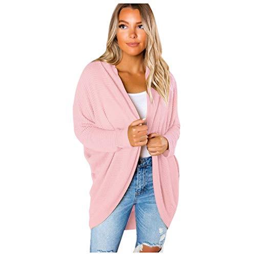 Las mujeres de manga larga de punto abierto frente casual Cardigan suéteres prendas de vestir exteriores para mujer Abrigos y chaquetas de invierno Venta