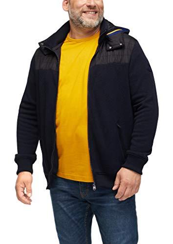s.Oliver Big Size Herren Strickfleece-Jacke mit Steppung dark blue 4XL