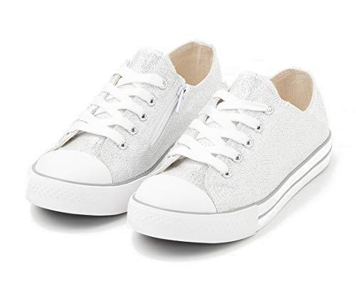TEX - Zapatillas De Lona para Niña, Plata, 32 EU