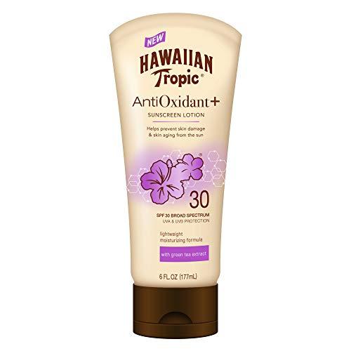 Hawaiian Tropic AntiOxidant+ Sunscreen Lotion, Lightweight Sun Protection, Broad Spectrum, SPF 30, 6 Ounces