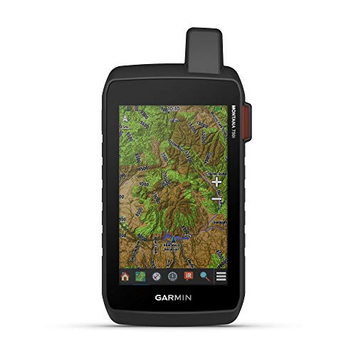 Garmin Montana 750i, Rugged GPS Handheld with Built-in inReach Satellite Technology and 8-megapixel...